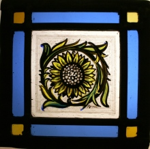 Panel 26 - Large Petal Sunflower 14cm x 14cm £45