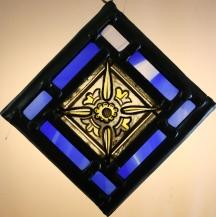 Panel 2- Star Quarry, Blue Border 12cm x 12cm approx. £35