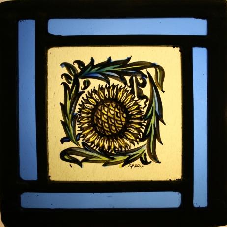 Panel 22 - Small Petal Sunflower 13cm x 13cm £45