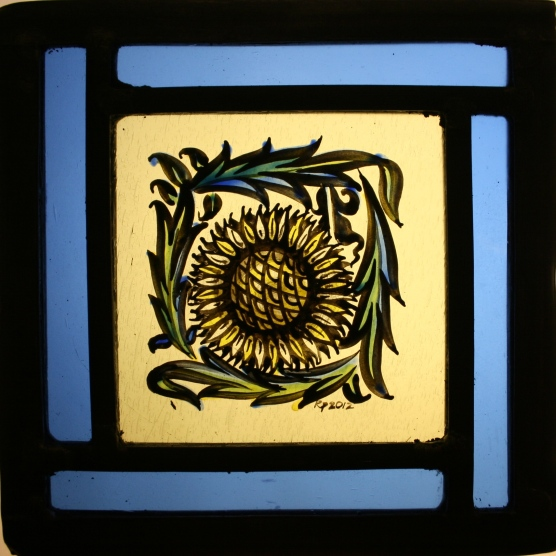 Panel 22 - Small Petal Sunflower 13cm x 13cm £45