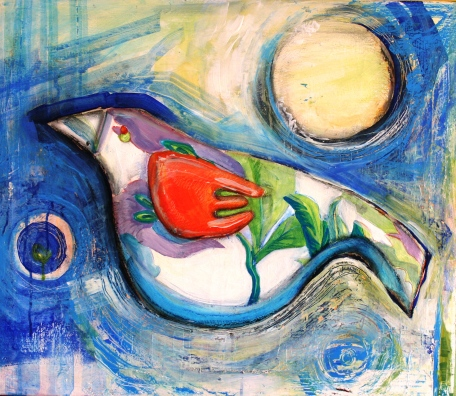 Little BirdRachel Phillips 2012Mixed Media on Canvas