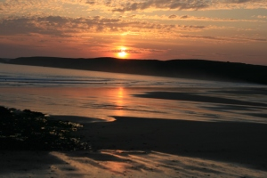 Sunset at Freshwater West, Pembrokeshire