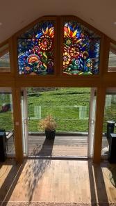 Celebration window installed